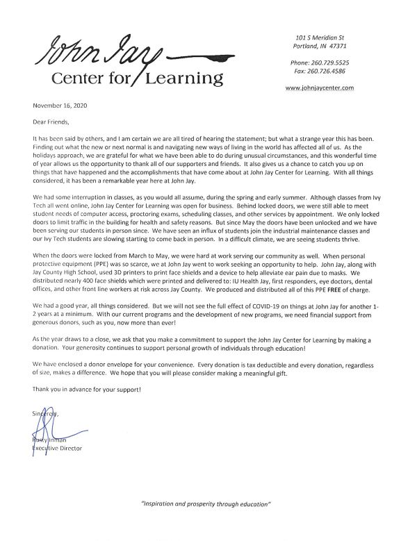 Year End Annual Letter