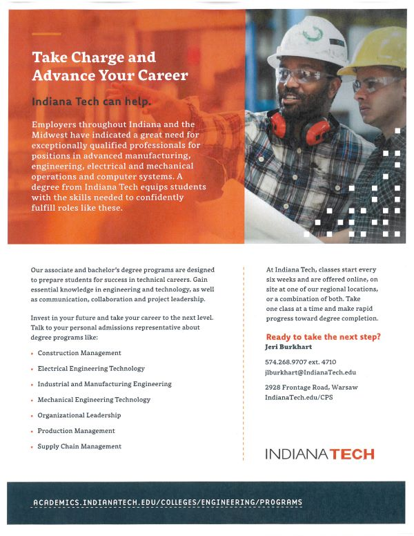 Indiana Tech Advance Your Career