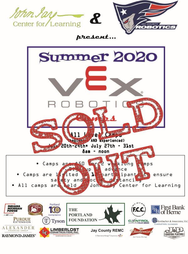 Robotics Camp 2020 SOLD OUT!!!