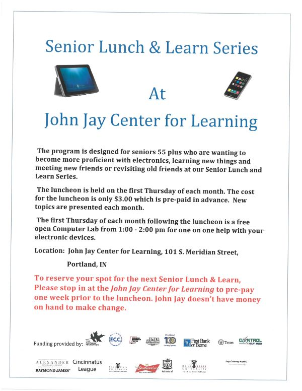 Senior Lunch & Learn Series 2020